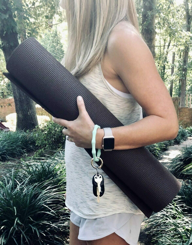 Silicone Bamboo Keychain Bracelet