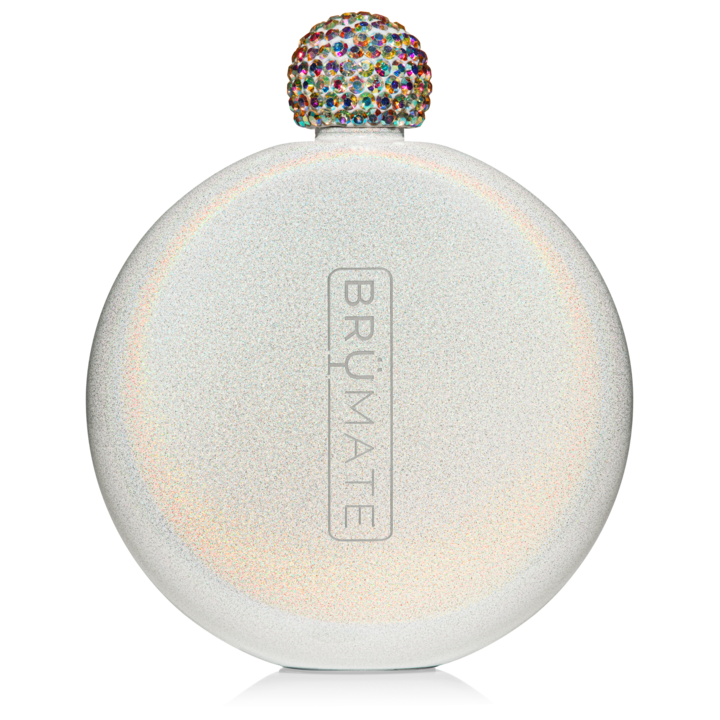 BM Flask Glitter Ice White
