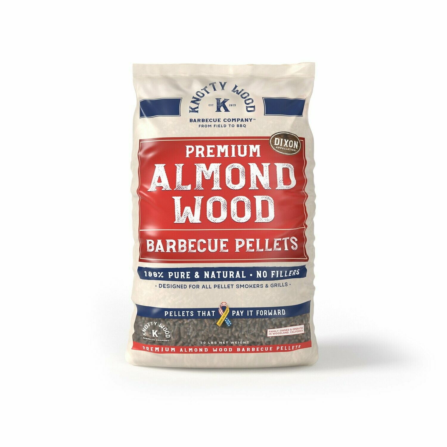 Knotty Wood Almond Pellets #20