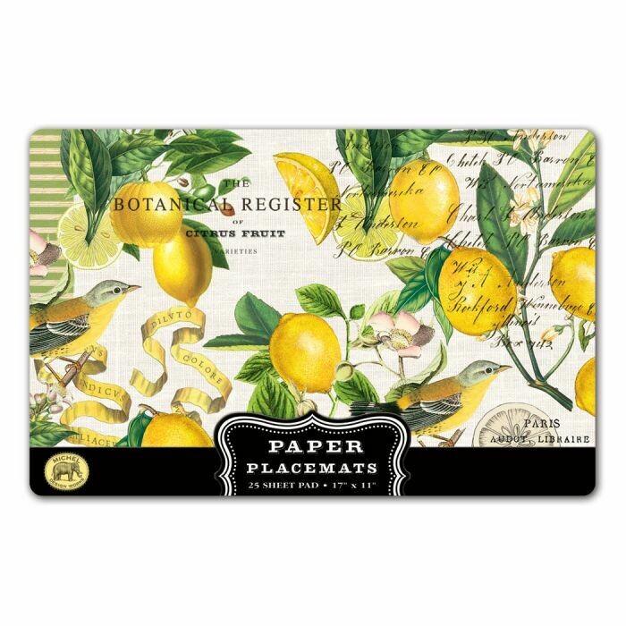 Placemats Paper Lemon Basil