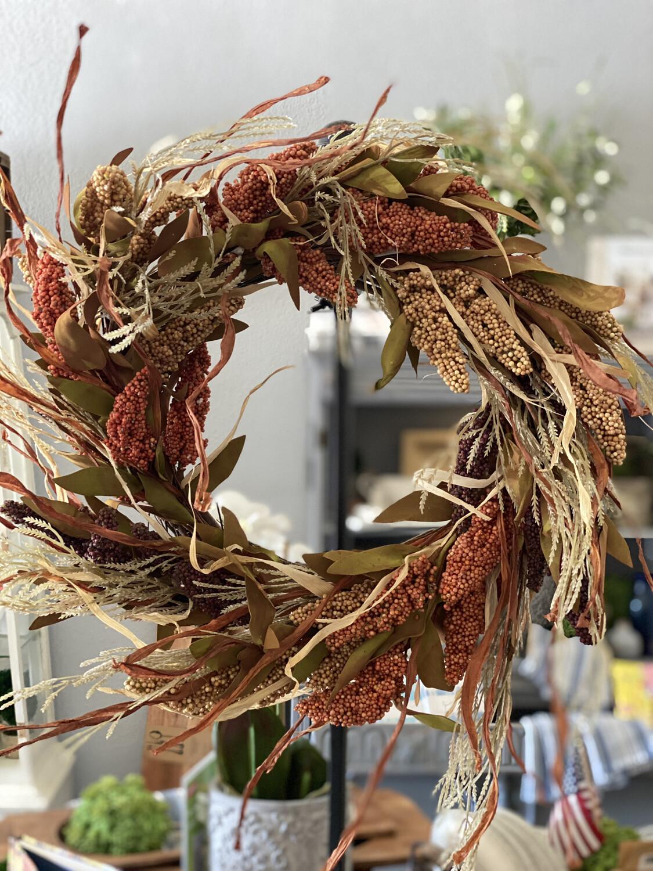 """Wreath Harvest Berry 24"""""""