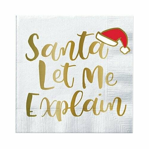 Napkin Santa Let Me