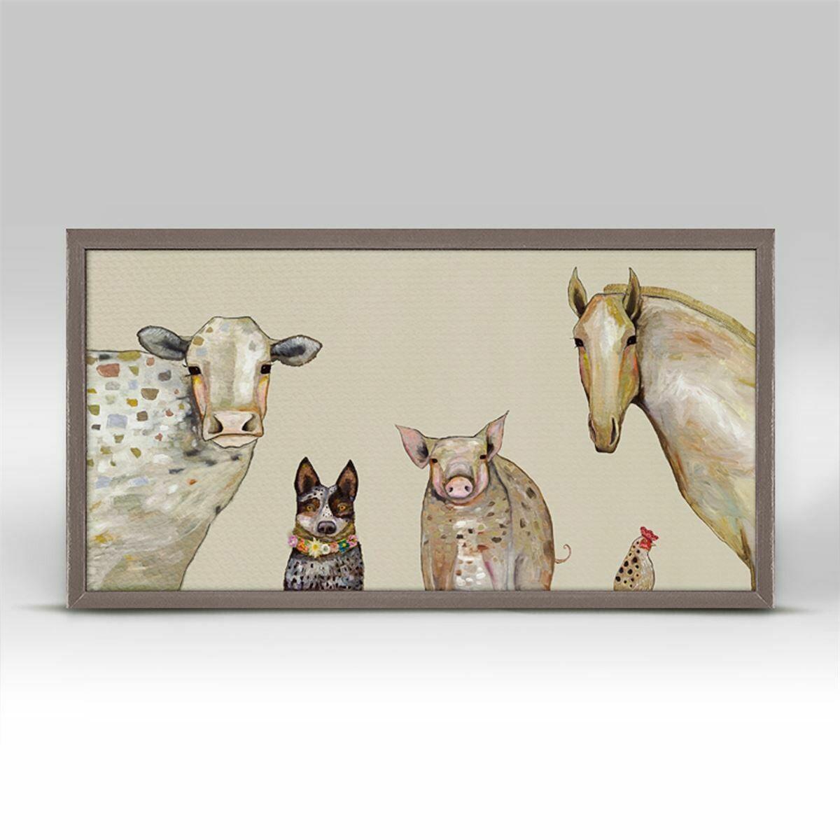 Canvas Cattle Dog & Crew