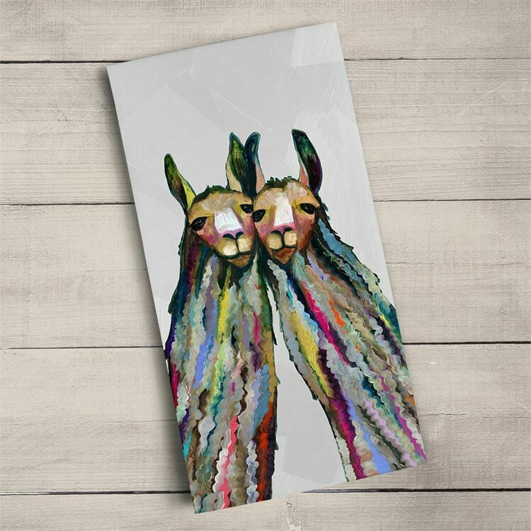 Towel Four Lively Llamas