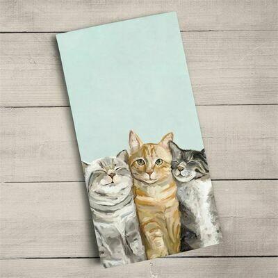 Towel Three Cats Plus One