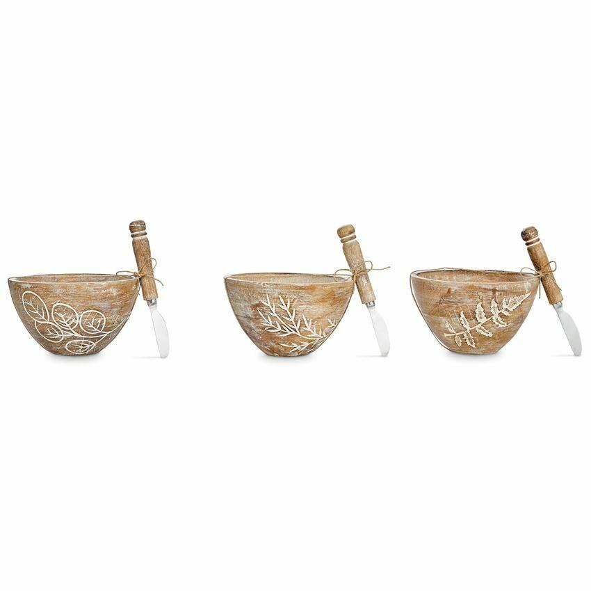 Bowl Carved Fern Set