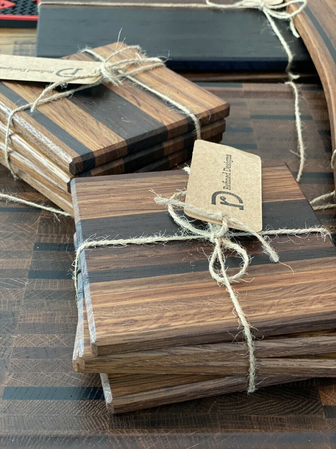 Wood Coasters Thick Cut