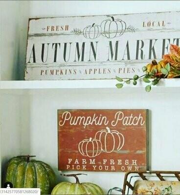Sign Autumn Market