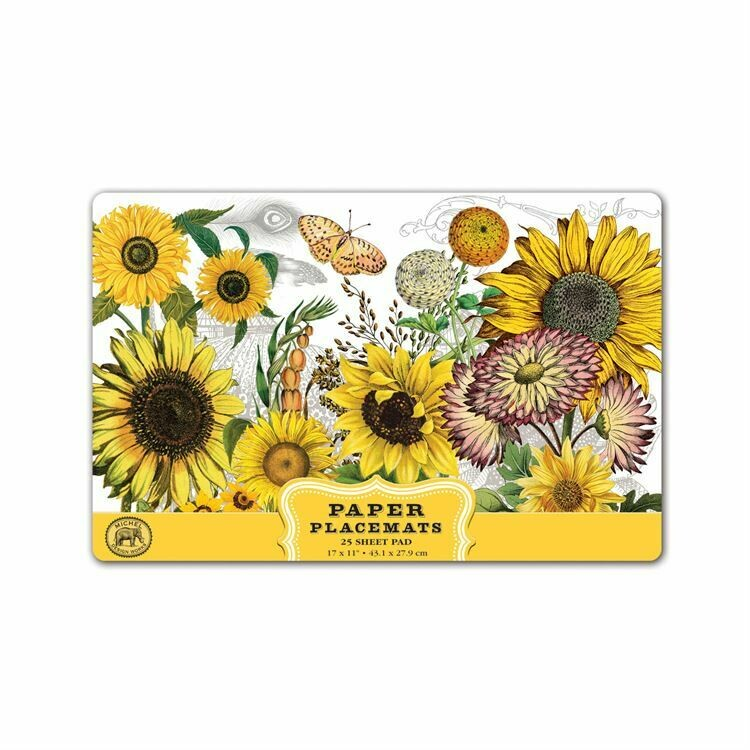 Placemats Paper Sunflower