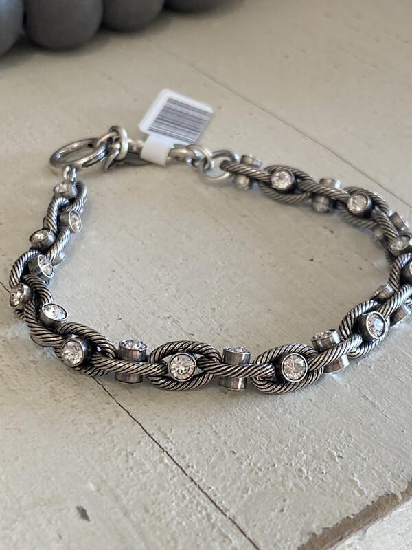 La Vie Silver Crystal Chain Bracelet