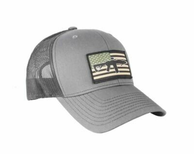 BRC Hat Flag Patch Trucker Gray