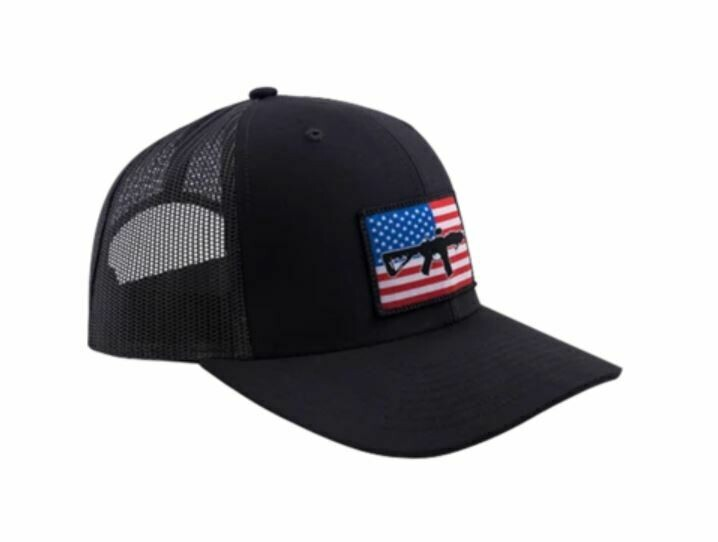 BRC Hat Flag Patch Trucker Black