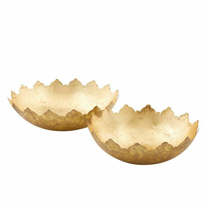 Bowl Large Gold Foil (S/2)