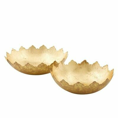 Bowl Large Gold Foil (S/2)