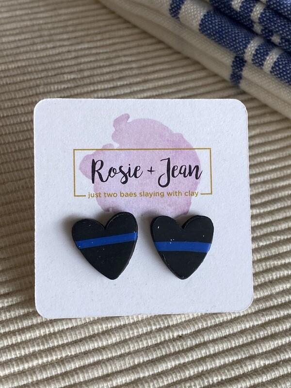 R&J Blue Line Hearts