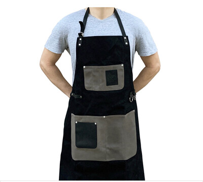 Apron Wax Canvas Black