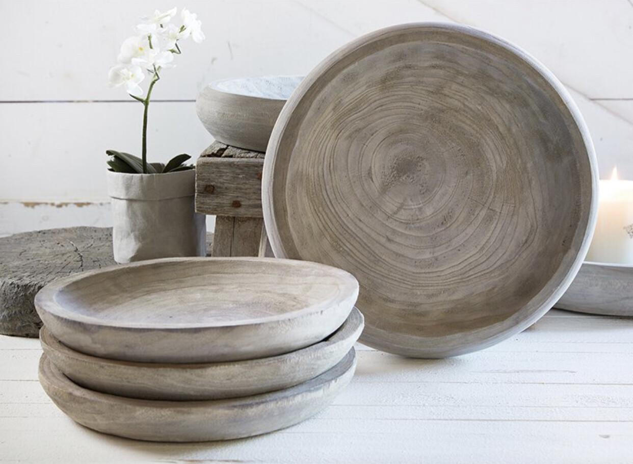 Bowl Paulownia Natural Wood