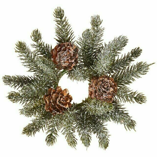 Candle Ring Iced Pine