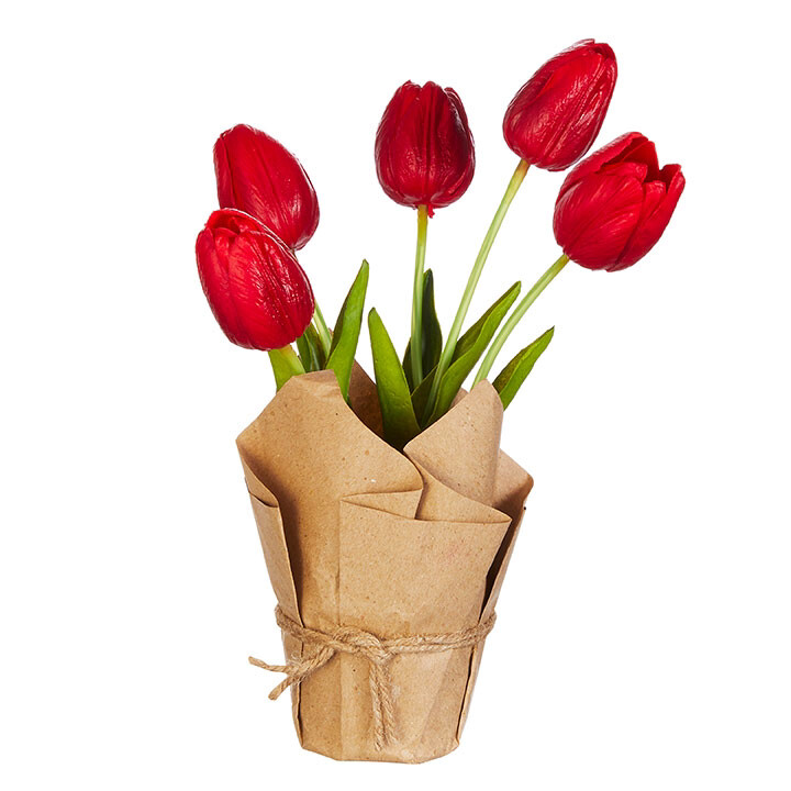 """Floral Potted Tulips 10.75"""""""