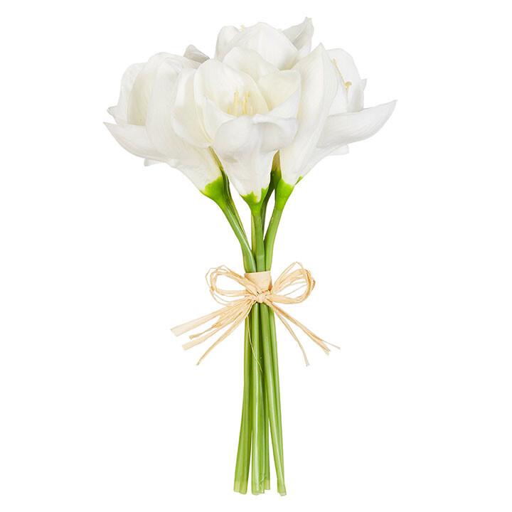 """Floral White Amaryllis Bundle 12"""""""