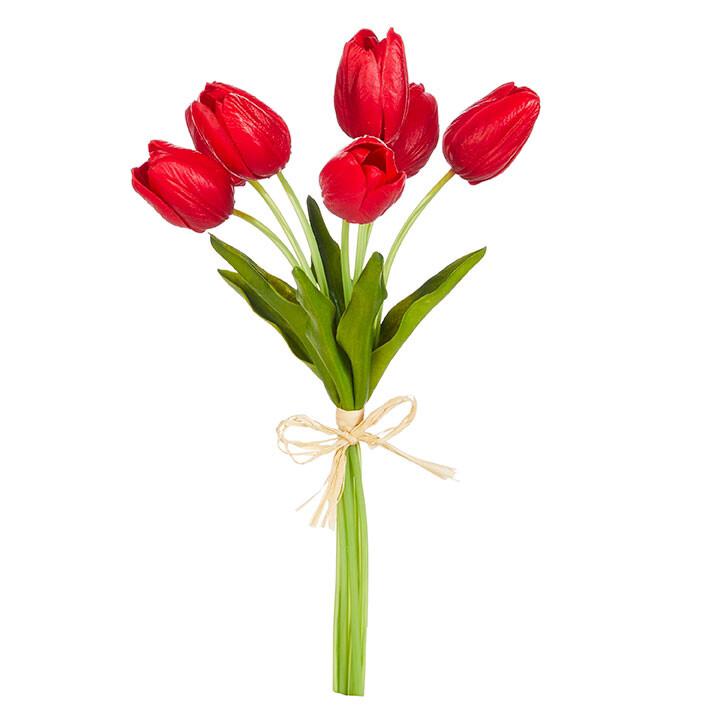 "Floral Red Tulip Bundle 14"""