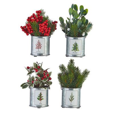 Floral Holiday Botanical Pots 7.5