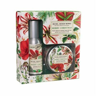 Gift Set Room Spray Candle Merry Xmas