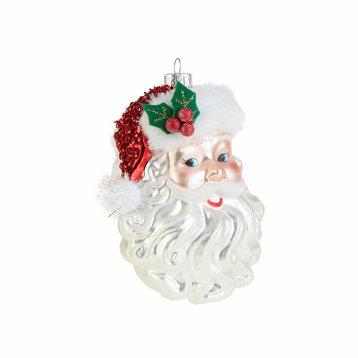 "Ornament 5"" Santa Face"