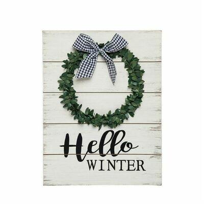 Sign Hello Winter