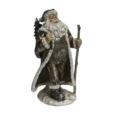 Santa Holding Stick & Bag 9""
