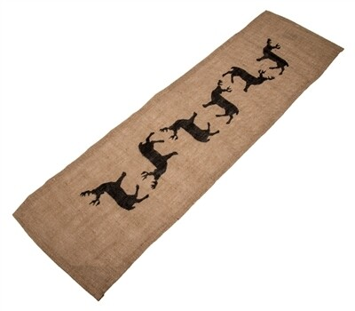 Table Runner Burlap w/ Deer