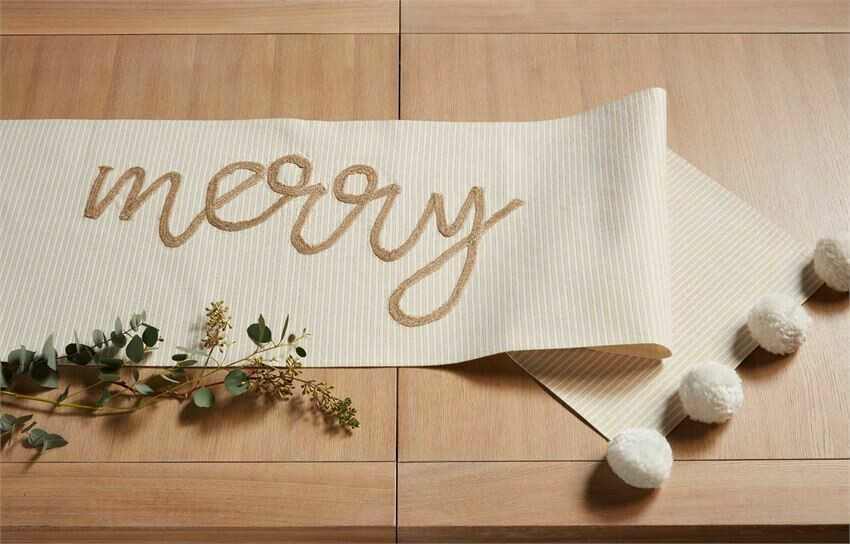Table Runner Gold Merry