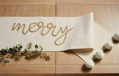 Table Runner Gold Merry