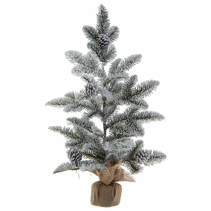 "Tree Snowy in Burlap Bag 25"""