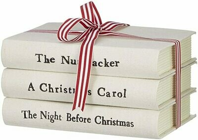 Books Stacked Christmas