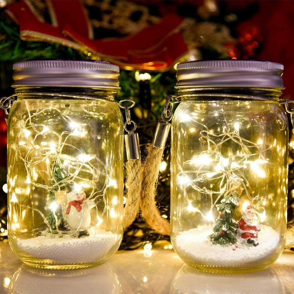 Christmas Mason Jar Snowman