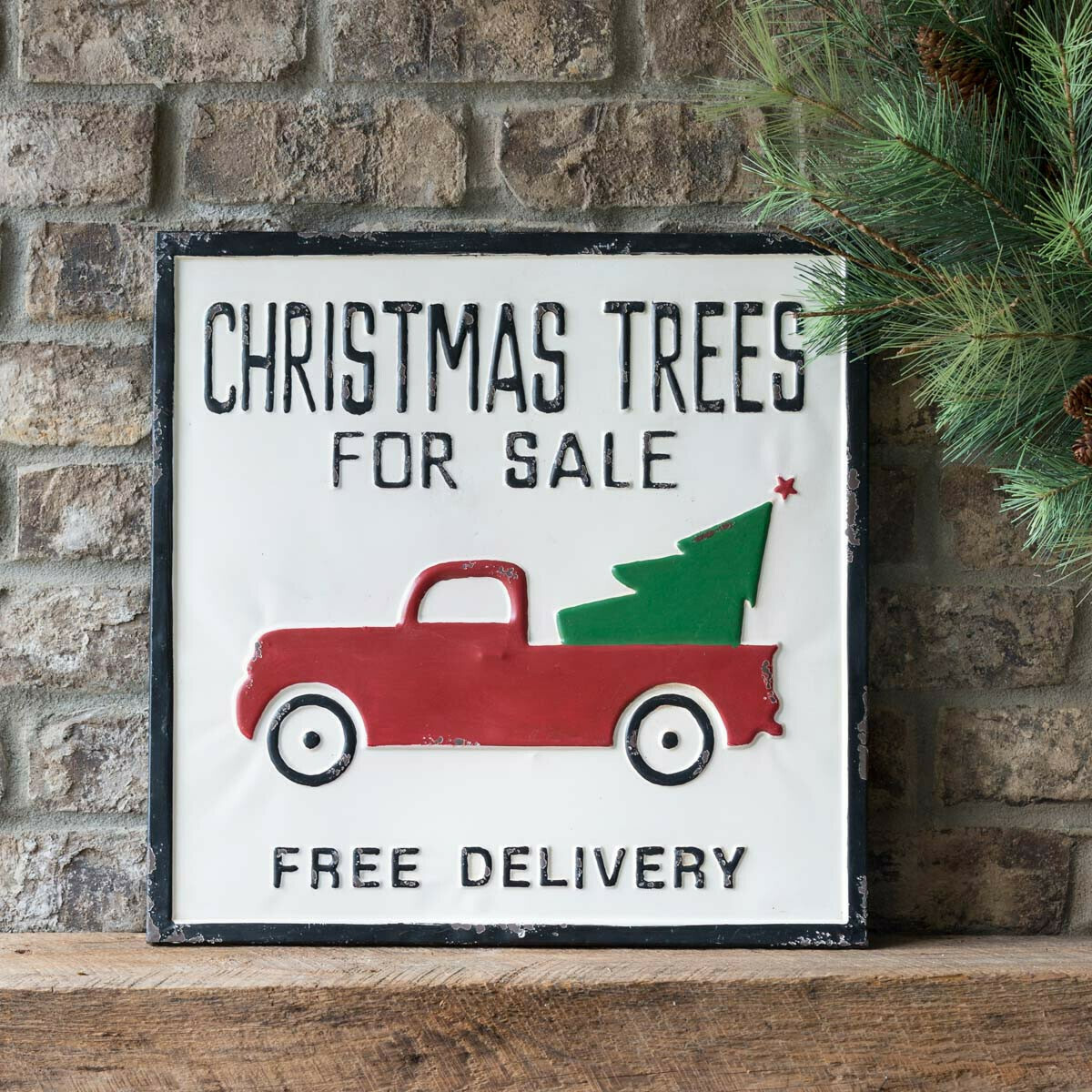 Sign Metal Christmas Tree 4 Sale