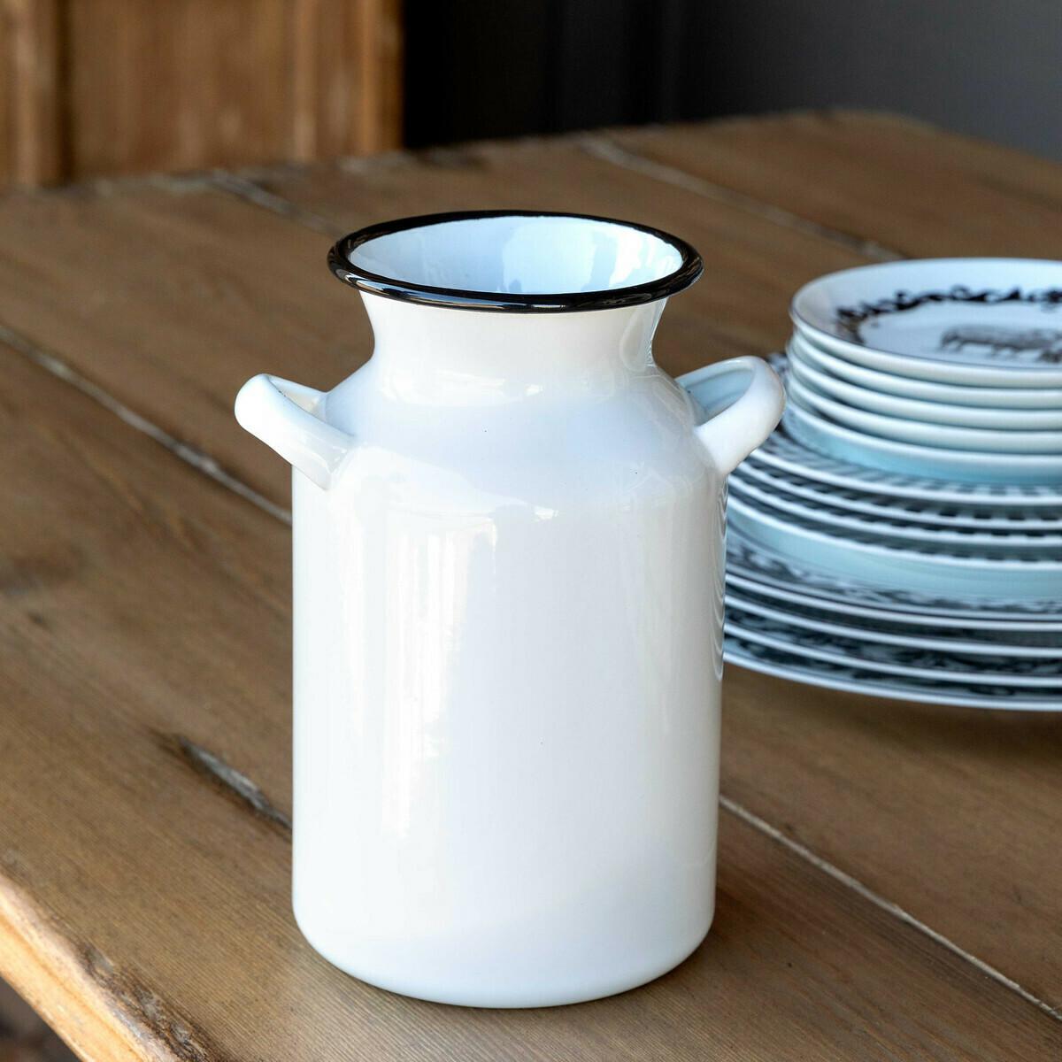 Vase Metal Painted Milk Jug