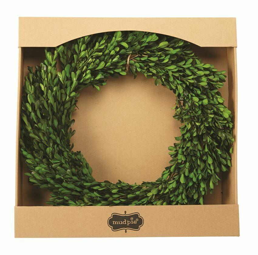 Wreath Preserved Boxwood