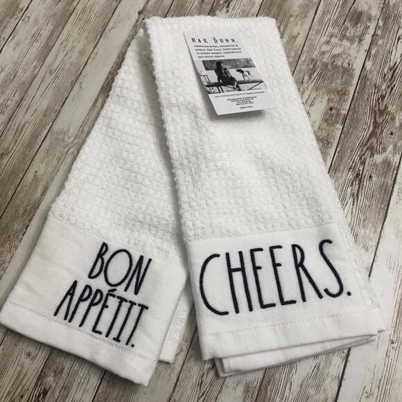 Towel Rae Dunn Cheers/Bon App Set