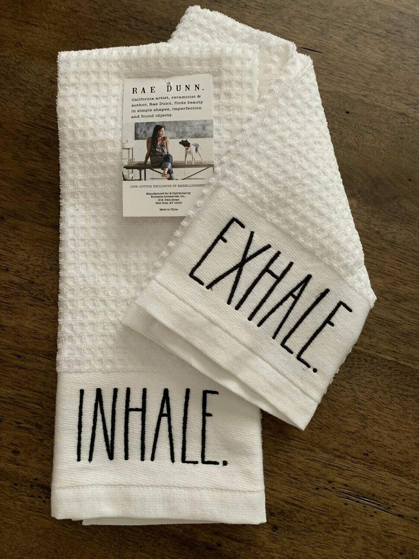 Towel Rae Dunn Inhale/Exhale Set