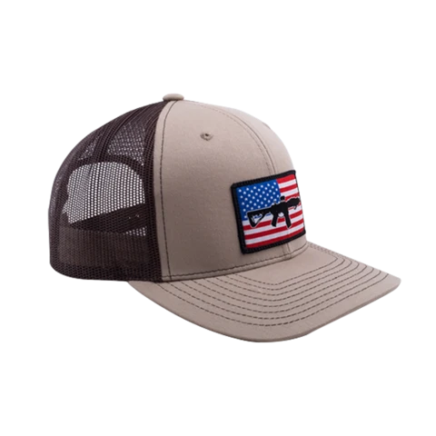BRC Hat Flag Patch Trucker Brown