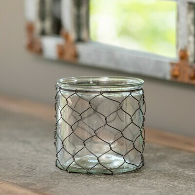 Candle Holder Wire Covered
