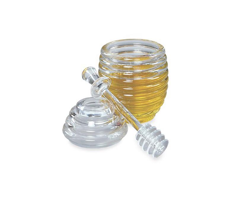 Honey Jar and Dipper Set