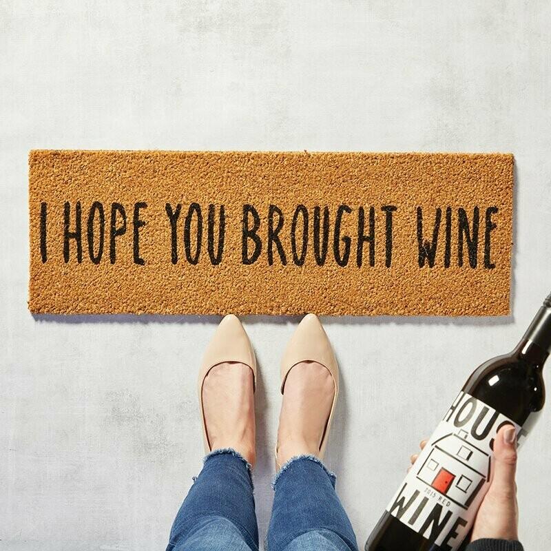 Door Mat Brought Wine