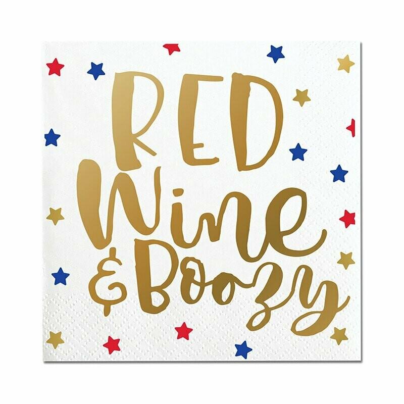 Napkin Red Wine Boozy 20ct