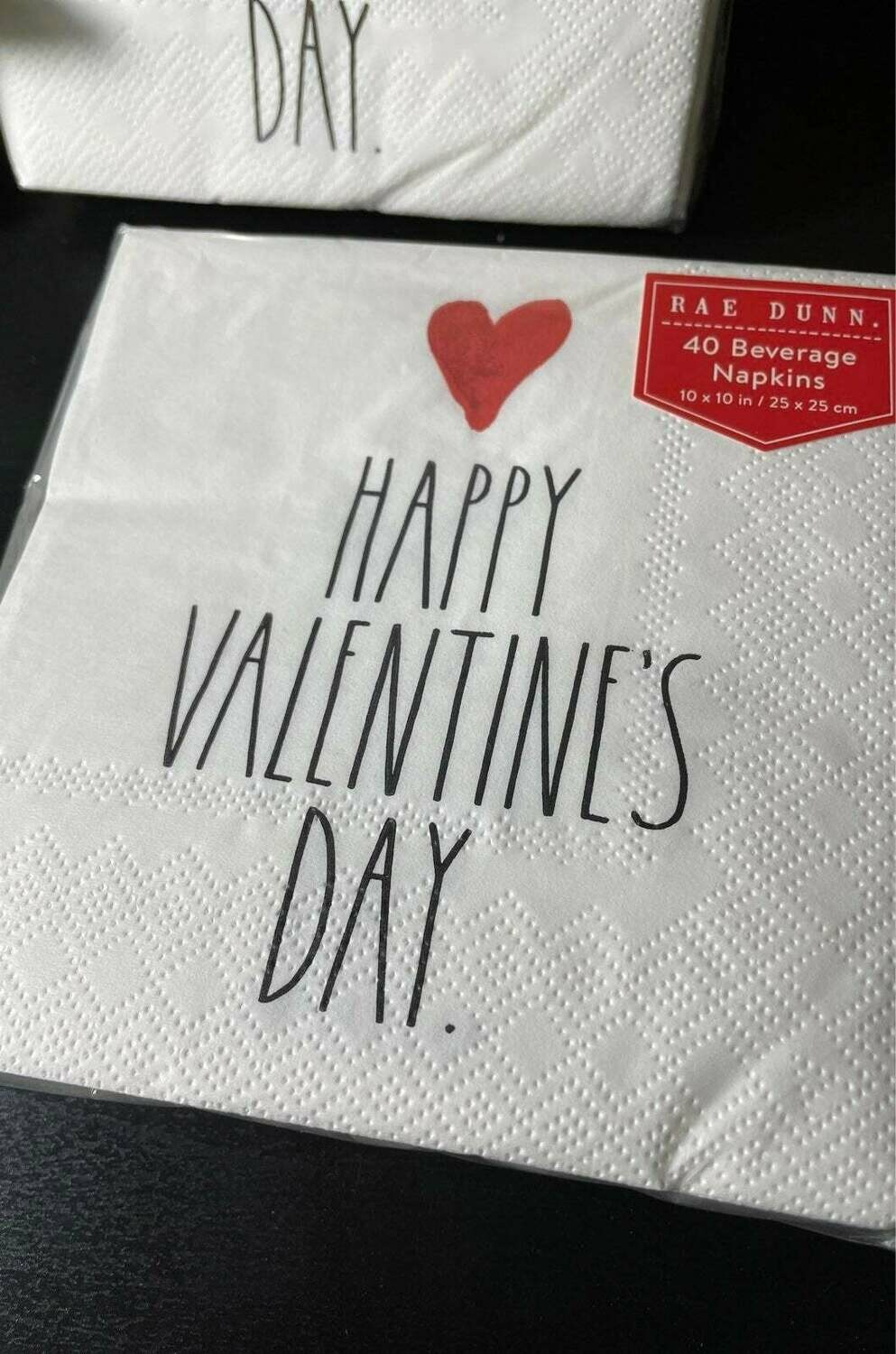 Napkin Rae Dunn Happy Valentines 40ct