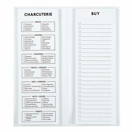Notepad Charcuterie List White