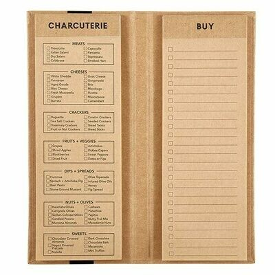 Notepad Charcuterie List Brown
