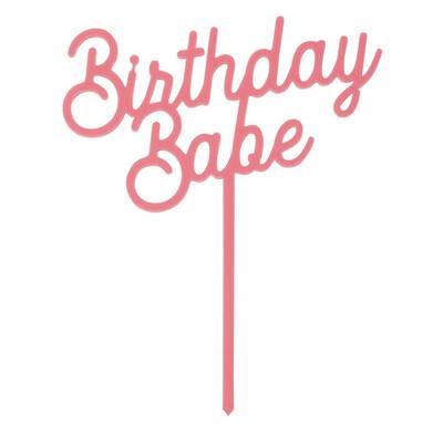Cake Topper Birthday Babe